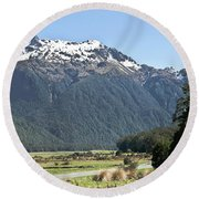 Lord Of The Rings Locations, New Zealand Round Beach Towel