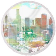 Los Angeles, California, United States Round Beach Towel