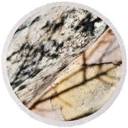 Round Beach Towel featuring the photograph Los Padres Stone by Kyle Hanson