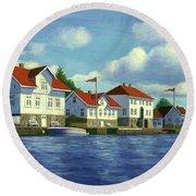 Loshavn Village Norway Round Beach Towel