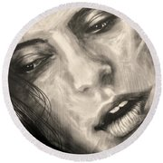 Round Beach Towel featuring the photograph Losing Sleep ... by Juergen Weiss