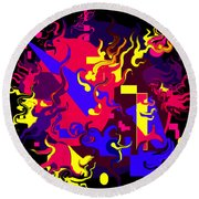 Loss Of Equilibrium Round Beach Towel