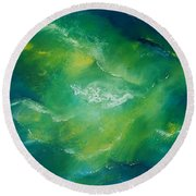 Lost At Sea Round Beach Towel