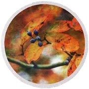 Lost Autumns Beauty 6570 Ldp_2 Round Beach Towel
