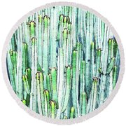 Lost Cactus Round Beach Towel
