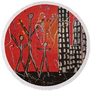 Lost Cities 13-001 Round Beach Towel by Mario Perron