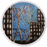 Lost Cities 13-003 Round Beach Towel by Mario Perron
