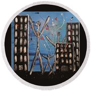 Lost Cities 13-003 Round Beach Towel