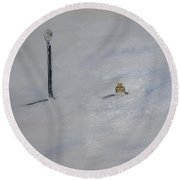 Lost Fire Hydrant Round Beach Towel