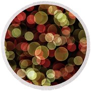Round Beach Towel featuring the photograph Lost In Reverie.. by Nina Stavlund