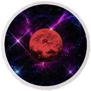 Lost In Space  Round Beach Towel by Naomi Burgess