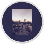 Lost In The Desert Round Beach Towel