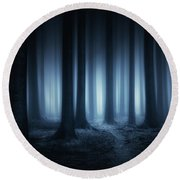 Lost In The Forest Round Beach Towel