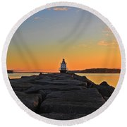 Lost In The Sunrise Round Beach Towel