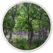 Lost In The Trees Round Beach Towel