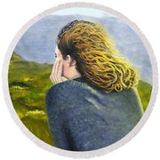 Lost In Thought Round Beach Towel by Karyn Robinson
