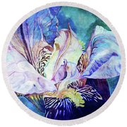 Lost Iris Passion 93 L_2 Round Beach Towel