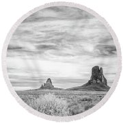 Lost Souls In The Desert Round Beach Towel