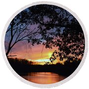 Lost Sunset Round Beach Towel by J R Seymour