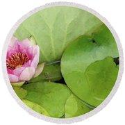 Lotus Blossom Round Beach Towel