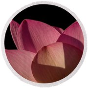 Round Beach Towel featuring the photograph Lotus Flower 5 by Buddy Scott