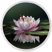 Lotus Meditation Round Beach Towel