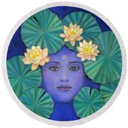 Lotus Nature Round Beach Towel by Sue Halstenberg