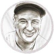 Lou Gehrig Round Beach Towel