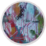 Louis Vuitton Abstract Round Beach Towel