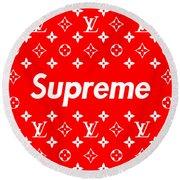 Louis Vuitton X Supreme Round Beach Towel