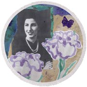 Louise In Boston 1944 In Memory Of My Mother Round Beach Towel
