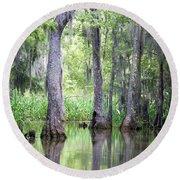 Louisiana Swamp 5 Round Beach Towel