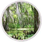 Louisiana Swamp Round Beach Towel