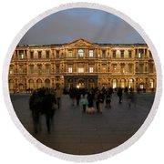 Round Beach Towel featuring the photograph Louvre Palace, Cour Carree by Mark Czerniec