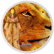 Round Beach Towel featuring the digital art Love 444 Cecil by Barbara Tristan