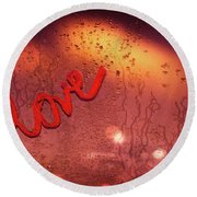Love And Passion Background Round Beach Towel