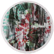 Round Beach Towel featuring the painting Love And Peace Are Eternal by Jayime Jean