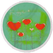 Love Art - 177abc Round Beach Towel