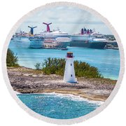 Love Boat Lane Round Beach Towel