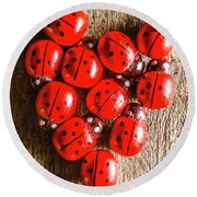Love Bug Round Beach Towel by Jorgo Photography - Wall Art Gallery