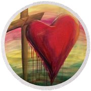 Love Covers A Multitude Round Beach Towel