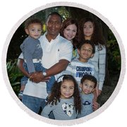 Round Beach Towel featuring the photograph Love Demonstrated 2 James Ingram Family Art by Reid Callaway