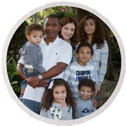 Round Beach Towel featuring the photograph Love Demonstrated James Ingram Family Art by Reid Callaway