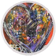 Love Round Beach Towel by Gail Butters Cohen