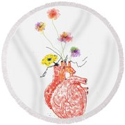 Love Gift Round Beach Towel