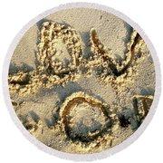 Love God Round Beach Towel