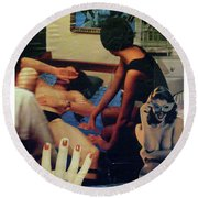 Love In The Afternoon Round Beach Towel