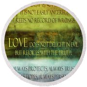 Round Beach Towel featuring the digital art Love Is  by Angelina Vick