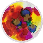Love Is Everywhere  Round Beach Towel