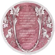 Round Beach Towel featuring the digital art Love Is Kind by Angelina Vick